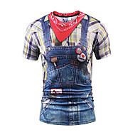 Χαμηλού Κόστους -Ανδρικά T-shirt Πάρτι Αθλητικά Σαββατοκύριακο Κλαμπ Πανκ & Γκόθικ Μπόχο Στρογγυλή Λαιμόκοψη Στάμπα