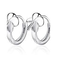 Női Francia kapcsos fülbevalók - Ezüst Virág hölgyek Ékszerek Ezüst Kompatibilitás Esküvő Parti Napi Hétköznapi