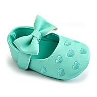 お買い得  ベビー用靴-女の子 靴 レザーレット 春 / 秋 赤ちゃん用靴 フラット リボン / かぎホック のために 子供用 グリーン / ブルー / ピンク / 結婚式 / パーティー