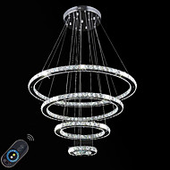 cheap Pendant Lights-Dimmable LED Indoor Crystal Ceiling Chandeliers Pendant Lights Lighting Hanging Lamp Fixtures with Remote Control