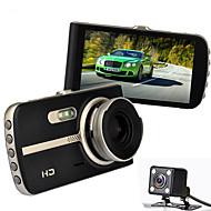 H83 1080p / Full HD 1920 x 1080 Auto DVR 120 stupňů / 140 stupňů Široký úhel 12.0MP CMOS 4 inch IPS Dash Cam s Noční vidění / G-Sensor /