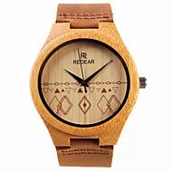 Pentru femei Ceas Elegant  Ceas de Mână Japoneză Quartz de lemn Piele Bandă Charm Maro