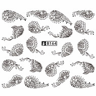 5pcs Black Lace Stickers +5pcs White Lace Stickers Sanat Sticker Nail Su Transferi Çıkartmaları dantel Sticker Makyaj KozmetikSanat