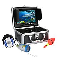 billige Overvåkningskameraer-7 tommer 1000 tvl undervannsfiske videokamera sett 12 stk led lys video under vann fisk kamera