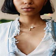 Damen Obsidian Halsketten - Künstliche Perle Personalisiert, Einzigartiges Design, Modisch, Euramerican Gold, Silber Modische Halsketten Schmuck Für Geschäft, Alltag, Normal, Büro & Karriere