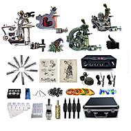 billiga Tatuering och body art-BaseKey Tattoo Machine Professionell Tattoo Kit - 3 pcs Tatueringsmaskiner LED strömförsörjning Fodral inkluderat 2 x stål tatueringsmaskin för linjer och skuggning / 2 x legering tatuering maskin