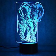 elefant touch dimming 3d led natt lys 7colorful dekoration atmosfære lampe nyhed belysning lys