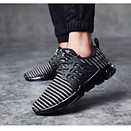 Erkek Atletik Ayakkabılar Yürüyüş Rahat PVC Kumaş Bahar Yaz Sonbahar Kış Atletik Günlük Bağcıklı Beyaz Siyah Düz