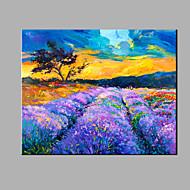 Handgeschilderde Abstract Landschap Horizontaal,Modern Eén paneel Canvas Hang-geschilderd olieverfschilderij For Huisdecoratie