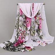 Per donna Con stampe, Vacanze Rettangolare - Chiffon Fantasia floreale / Primavera / Estate / Autunno