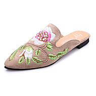 נשים נעליים PU אביב קיץ סתיו נוחות סוגי כפכפים עקב נמוך בוהן עגולה עבור קזו'אל שחור חאקי