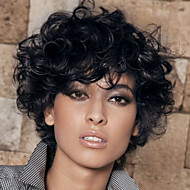 Prevailing Black Short Curly Hair  Synthetic Wigs  Suitable For All Kinds Of People