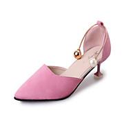 hesapli -Kadın Ayakkabı Kırpma Yaz Balerin Düz Ayakkabılar Yürüyüş Düz Taban Sivri Uçlu Günlük için İnci Siyah Pembe