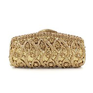 נשים שקיות אביב קיץ סתיו חורף כל העונות מתכת תיק ערב קריסטל / ריינסטון ל חתונה מסיבה רשמי שימוש מקצועי זהב
