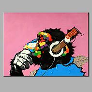 Maalattu Eläin Vaakasuora,Moderni 1 paneeli Kanvas Hang-Painted öljymaalaus For Kodinsisustus
