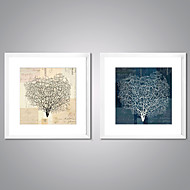 cheap Prints-Framed Canvas Print Abstract Floral/Botanical Traditional Realism,Two Panels Canvas Square Print Wall Decor For Home Decoration