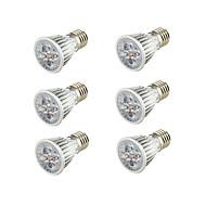 お買い得  LED電球-6本 5W 400-450lm E26 / E27 LEDスポットライト B 5 LEDビーズ COB 装飾用 温白色 85-265V