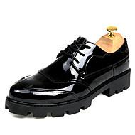 גברים נעליים עור אביב קיץ סתיו חורף נוחות מגפיים נעלי אוקספורד הליכה ניטים שרוכים עבור חתונה קזו'אל מסיבה וערב שחור