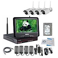 baratos Kits NVR-Câmera ip sem fio strongshine® com 960p infravermelho à prova d'água e nvr 10,1 polegadas lcd 2tb vigilância hdd kits