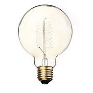 billige Glødelampe-BriLight 1pc 40 W E26 / E27 / E27 G95 Varm hvit 2300 k Glødende Vintage Edison lyspære 220-240 V / 110-130 V