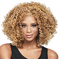 Perruque Synthétique Femme Bouclé / Afro Blond Cheveux Synthétiques Blond Perruque Moyen Sans bonnet Blond