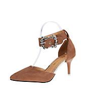 Recommande La Sortie Sortie Rabais Mujer Zapatos Ante Verano Confort / Talón Descubierto Zuecos y pantuflas Tacón Bajo Dedo Puntiagudo Hebilla Azul Oscuro / Rosa / Azul Claro IyHdPo95