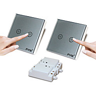 FYW Double Control Two Gang  Touch  Remote Controller Switch  No Need To Cut Wall Wiring  Can Be Pasted In Any Place