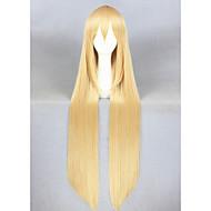 Naisten Synteettiset peruukit Suojuksettomat Pitkä Suora Vaaleahiuksisuus Cosplay-peruukki Halloween Peruukki Carnival Peruukki puku