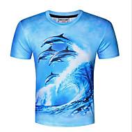 Rund hals Herre Trykt mønster Sport T-shirt