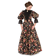 Victorian The Marvelous Mrs. Maisel Dress Cosplay Costume Party Dress Women's Floral Victorian Wasp-Waisted Christmas Halloween Carnival Festival / Holiday Lace Organza Carnival Costumes Floral