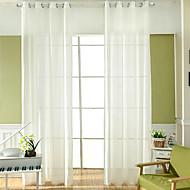 Et panel Window Treatment Rustikk Europeisk , Solid Stue Polyester Materiale Gardiner Skygge Hjem Dekor For Vindu