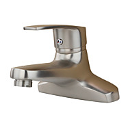 cheap Kitchen Faucets-Art Deco/Retro Modern Country Standard Spout Centerset Widespread Ceramic Valve Single Handle Two Holes Stainless Steel , Bathroom Sink