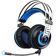 A7 Sobre oreja / Cinta Con Cable Auriculares Dinámica El plastico De Videojuegos Auricular Con control de volumen / Con Micrófono /