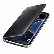 ケース 用途 Samsung Galaxy A5(2017) A3(2017) オートオン/オフ メッキ仕上げ ミラー フリップ フルボディー 純色 ハード PC のために A3(2017) A5(2017) A7(2017) A9(2016) A8(2016)