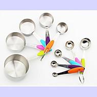 ieftine -Instrumente de coacere Teak Reparații Pâine / Tort / Ciocolatiu Cupe de măsurare și lingură 10pcs