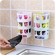 Shopping Grocery Bag Dispenser Rack Storage Wall Mount Stick Holder Many Holes Design Carrier