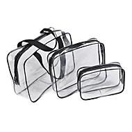3PCS 旅行かばん 荷物整理 防湿 防水 携帯用 超軽量(UL) 小物収納用バッグ バッグ用小物 のために 防湿 防水 携帯用 超軽量(UL) 小物収納用バッグ バッグ用小物 ブラック Brown レッド ブルー