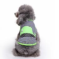 preiswerte Bekleidung & Accessoires für Hunde-Katze Hund Weste Hundekleidung Niedlich Lässig/Alltäglich Modisch Streifen Grün Blau Kostüm Für Haustiere