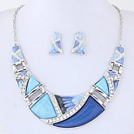 Dámské Sady šperků bižuterie Módní Euramerican Slitina Geometric Shape 1 x náhrdelník 1 x pár náušnic Pro Párty Denní Svatební dary