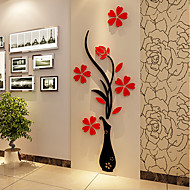 Cheap Wall Art Christmas Romance Florals Stickers 3D Decorative