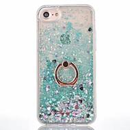 Til iPhone X iPhone 8 iPhone 8 Plus Etuier Flydende væske Ringholder Bagcover Etui Helfarve Hårdt PC for Apple iPhone X iPhone 8 Plus