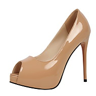 Women's Heels Spring Fall Comfort Leather Dress Stiletto Heel