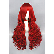 Long Wave Red The Little Mermaid 32inch Anime Cosplay wig CS-193A