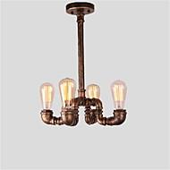 billiga Belysning-4 huvuden vintage industriella rör enkla loft järn rör hängande ljus vardagsrum matsal kök café hall