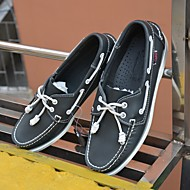 メンズ 靴 レザー 春 秋 コンフォートシューズ ボート用シューズ 用途 カジュアル ブラック