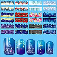 10pcs/style Nail Art matrica Víz Transfer Matricák 3D-s körömmatricák smink Kozmetika Nail Art Design