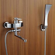 billige Rabatt Kraner-Badekarskran - Moderne Art Deco / Retro Krom Badekar Og Dusj Keramisk Ventil