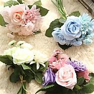 billige Kunstige blomster-Kunstige blomster 8.0 Gren Bryllupsblomster Roser / Peoner / Kurvplante Bordblomst