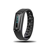 tanie Inteligentne zegarki-Inteligentne Bransoletka Pulsometr Wodoszczelny Ładowanie bezprzewodowe Spalone kalorie Krokomierze Informacje Anti-lost Długi czas