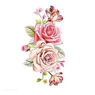 1 pcs Tatoveringsklistermærker Midlertidige Tatoveringer Blomster Serier Kropskunst arm / skulder